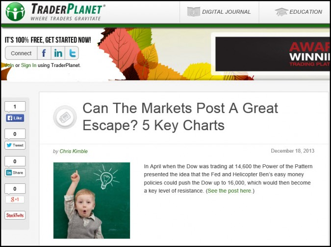 "Can the markets accomplish a ""Great Escape"" 5 Key charts-"