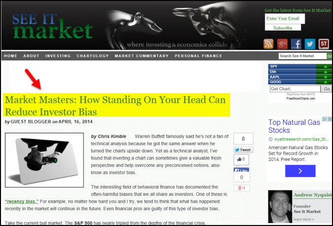 Market Masters- How standing on your head can reduce investor bias