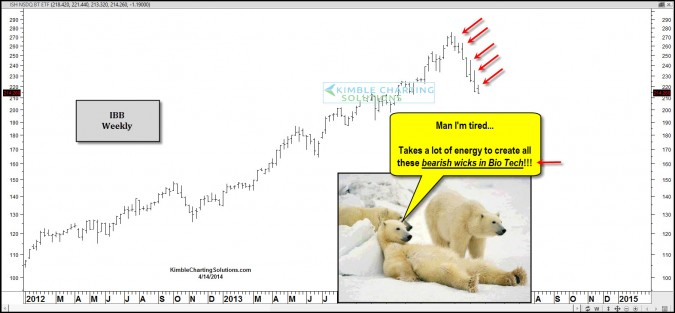 Another bearish wick in Bio Tech took place!