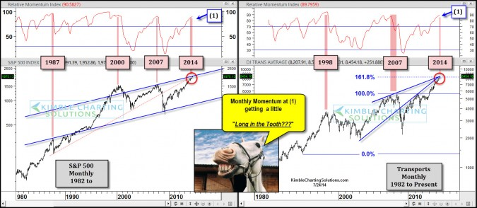 Momentum back at 1987, 2000 & 2007 levels…Long in the tooth?