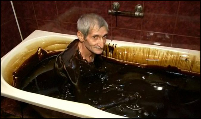 crude oil bath pic