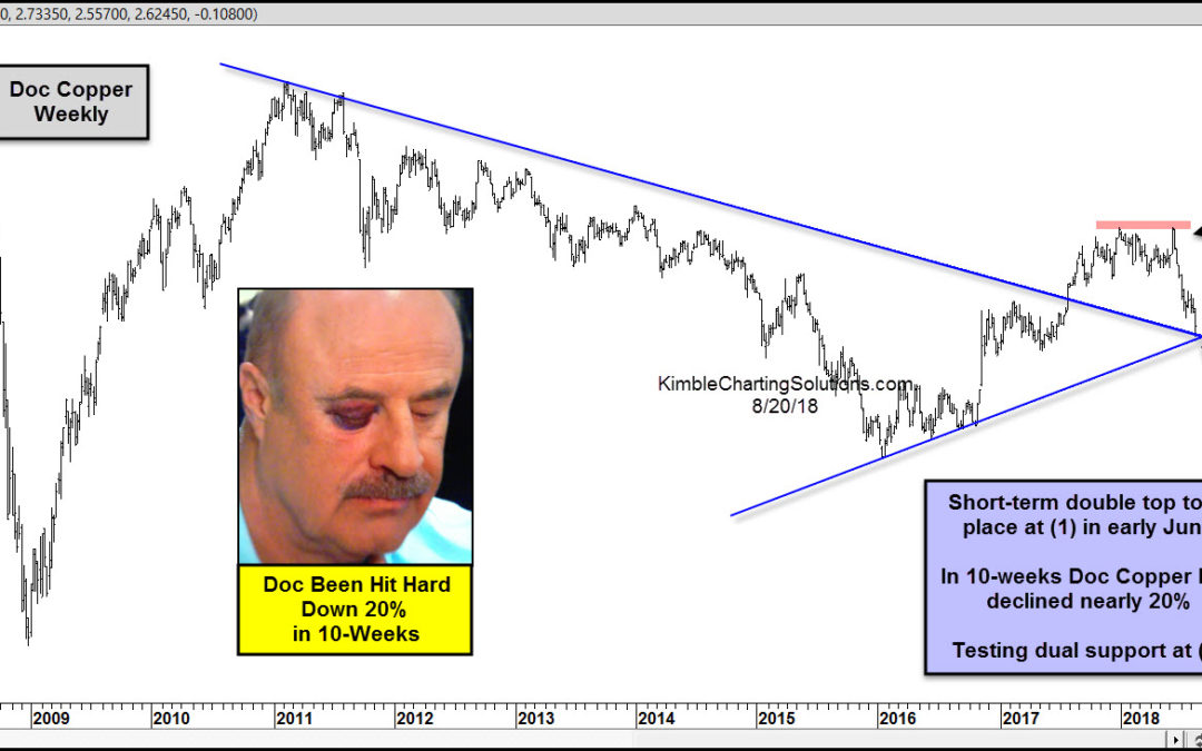 Doc Copper down 20%, sending a macro message?